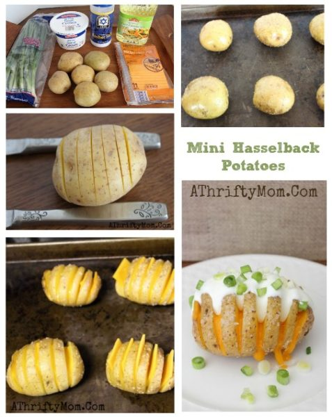 Mini Hasselback Potatoes, Game Day Recipe Ideas, baked potatoes in a whole new way. Easy Recipes for Game day