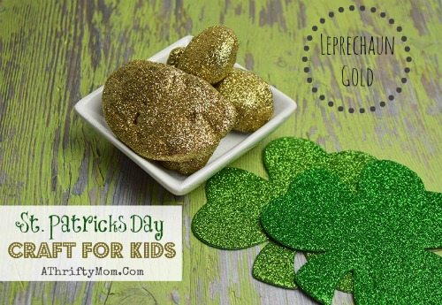 St Patricks Day Crafts For kids, Easy to make DIY Pot of gold rocks. Perfect for preschool and older, school craft
