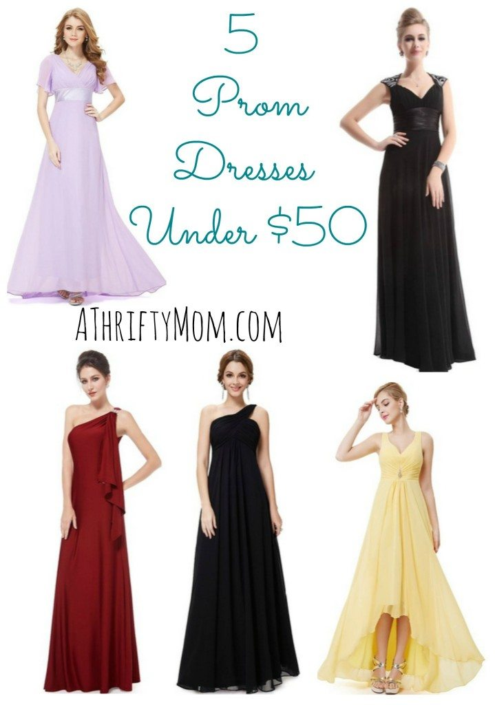 5 Prom Dresses On Sale Under $50 Each - Pretty Dresses Perfect for ...