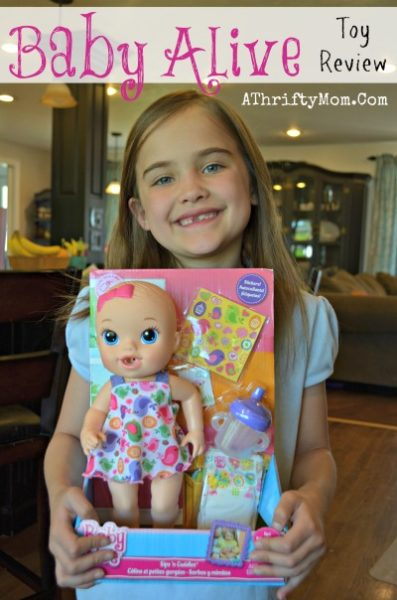 Baby Alive Doll Review, toy review, Gift ideas for little girls, 7 year old toy review, #playlikehasbro