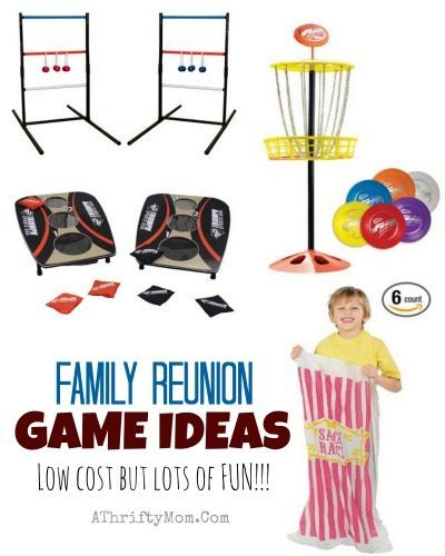 Family reunion or summer picnic game ideas, they are lots of fun but LOW COST perfect for small or large groups, easy game ideas