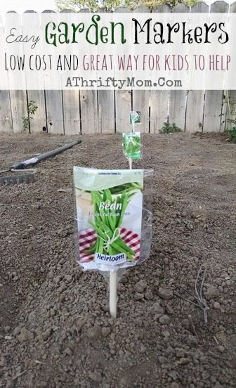 Garden Markers DIY, Garden ideas, DIY Craft, Garden party or Garden, Kid craft projects, easy and popular ideas