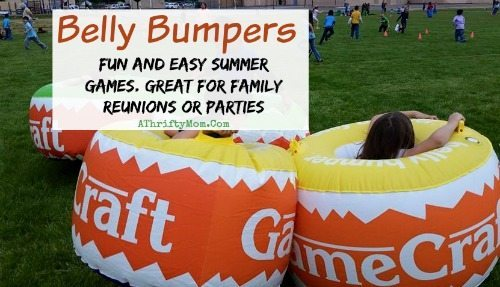 belly bumpers, FUN summer games for kids, field day games for kids, perfect for family reunions or summer picnics