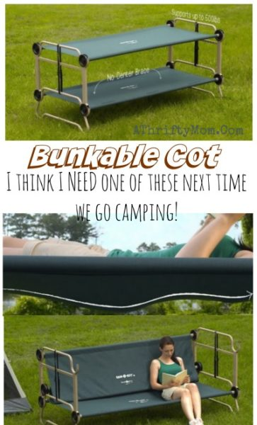 Portable Bunk Beds, Camping hacks that will change your life, Bunkable cot perfect for living or camping in small spaces