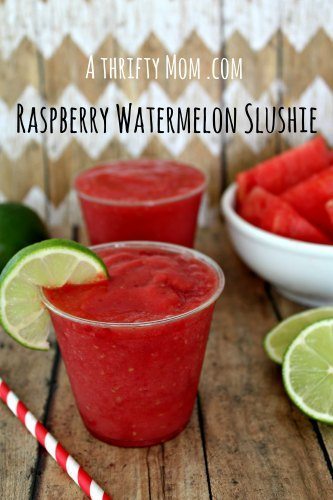 Raspberry Watermelon Slushie recipe