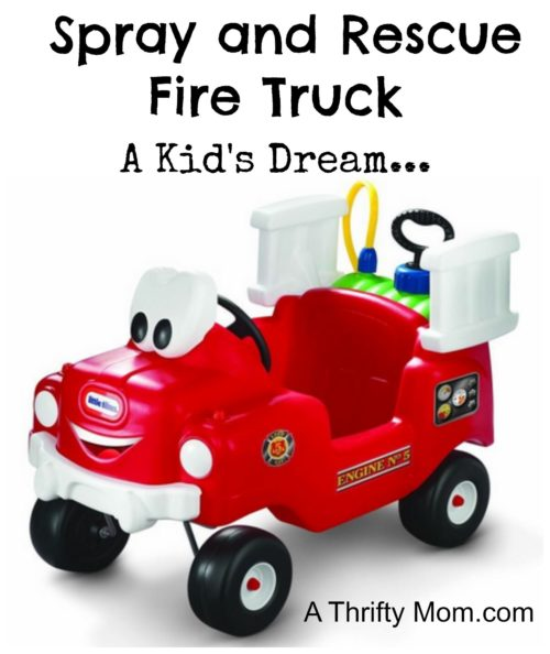 Little Tikes Spray and Rescue Fire Truck- A kids dream
