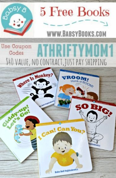 Babsy Books FREE with code athriftymom1, free baby books babsybooks.com, baby shower gift ideas, freebies for baby