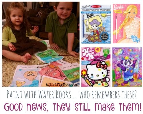 Paint with water books, quite activites for kids on a sunday afternoon, fine motor skills for kids