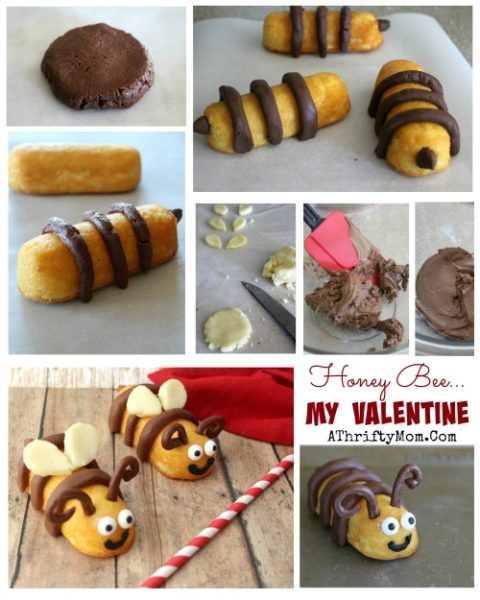 Valentines Ideas, Sweet Treats for all ages Honey Bee My Valentine, Easy DIY Valentines desserts