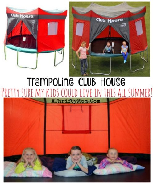 tent trampoline, Trampoline Club House, fun summer games for teh kids