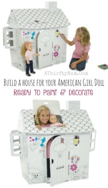 American Girl Doll, 18 inch doll house that you can decorate, crafts for kids, American Girl Party ideas,