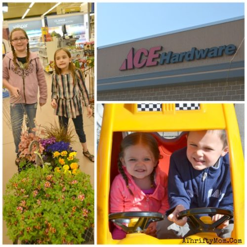 Spring bird feeders at ACE Hardware, how to make bird feeders with your family, family activities to do outside, ad