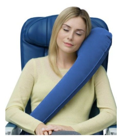 travel pillow, blow up pillow, travel, tips and tricks, comfort, road trip, plane