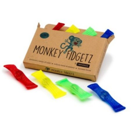 monkey fidgetz, anxiety reducing toys, toys, fidget toys, concentrate, anxiety, adhd, autism