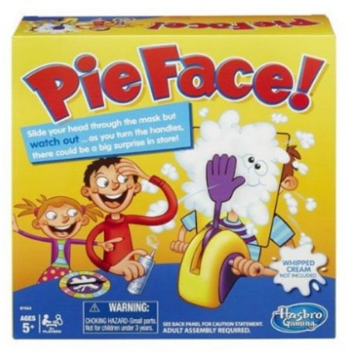 pie face, games, family game night, game time, playing games pie, fun