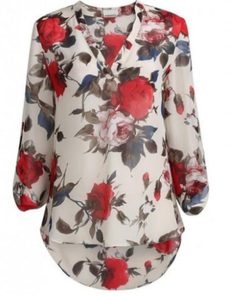 floral blouse, top, shirt, womens clothing, fashion