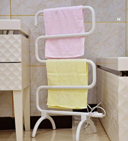 Towel warmer and drying rack