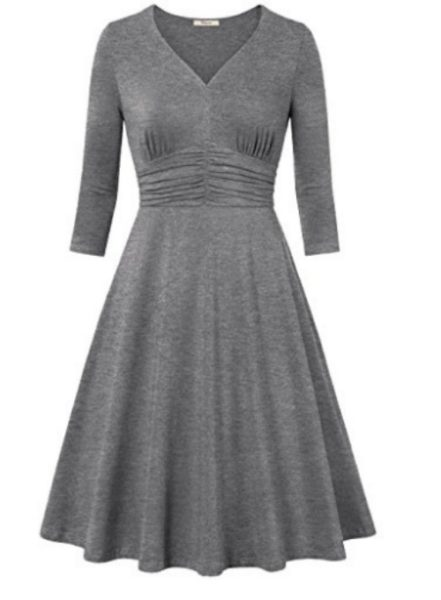 Ruched A line dress