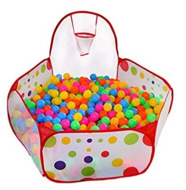 Toddler ball pit folds up for storage