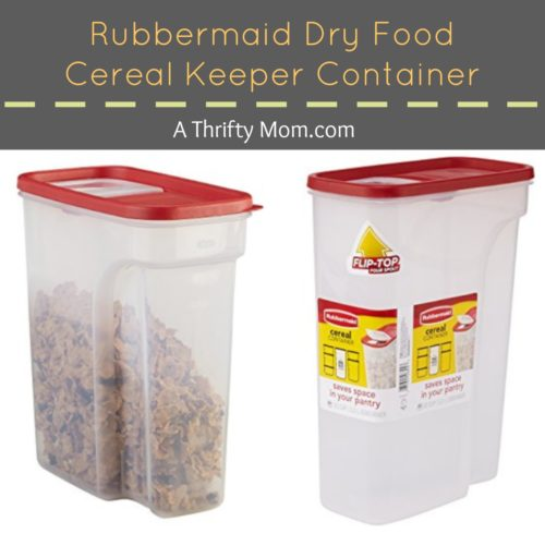Rubbermaid Dry Food Cereal Keeper Container