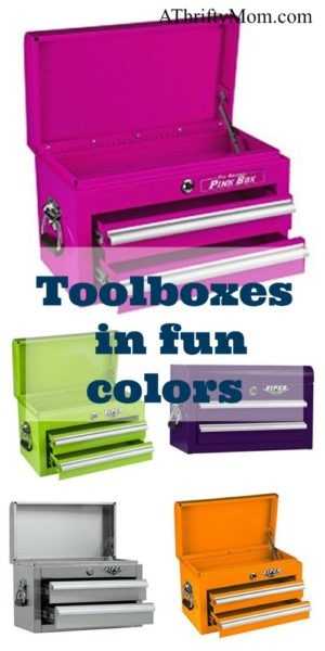 Bright color toolboxes