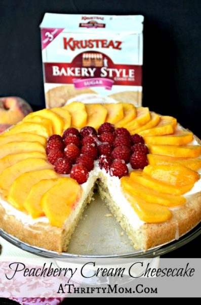 Peach berry Cream Cheese Cake