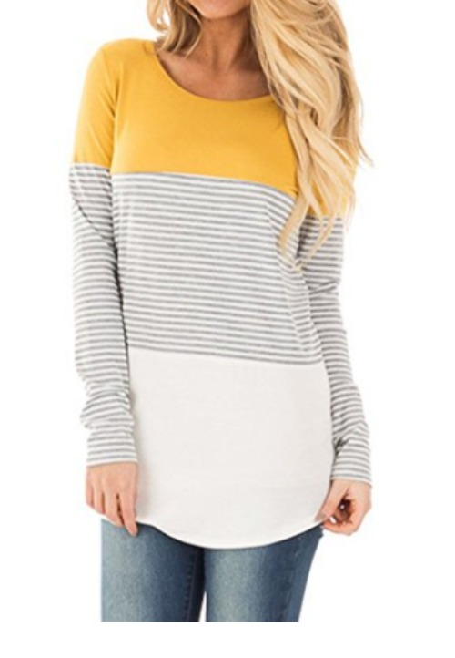 Colorblock striped shirt