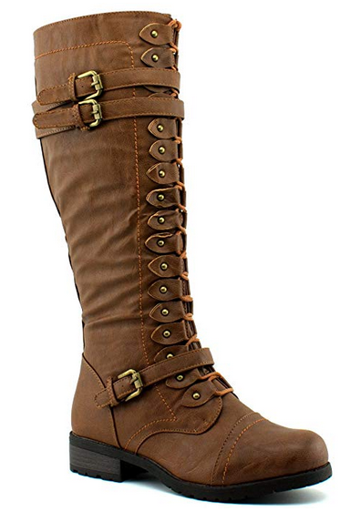 Women's Strappy Knee High Boots