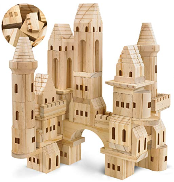 This image has an empty alt attribute; its file name is FAO-Schwarz-Medieval-Knights-Princesses-Wooden-Castle-Building-Blocks-75-Piece-Set.png