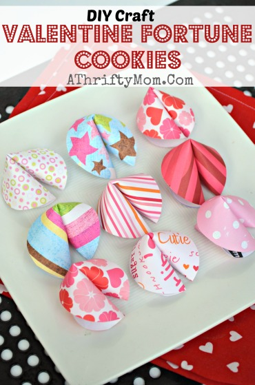 Valentines fortune cookies DIY craft - A Thrifty Mom ...