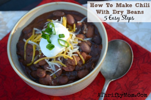 how to cook dry beans for chili