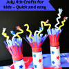FireWorks ~ July 4th Crafts for Kids, quick and easy