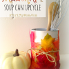 Fall Craft ~ Soup Can Upcycle  #Fall #DIY #Crafts #Hacks