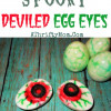 Spooky Deviled Egg Eyes ~ Halloween Recipes #DIY, #HalloweenParty