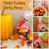 Candy Corn Turkey ~ DIY Craft Project for kids Thanksgiving Party