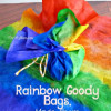 Rainbow Goody Bags, Made From a Coffee Filter! Perfect for St Patrick's Day