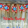 Patriotic Burlap Banner, Perfect for the 4th of July!