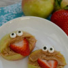 Fun Healthy Snacks For Kids - Silly Mouth Apple Snacks