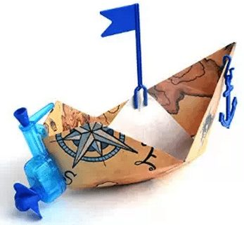 Powered Paper Boat