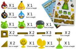 angry birds toy set