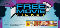 free movie ticket with gm cereal