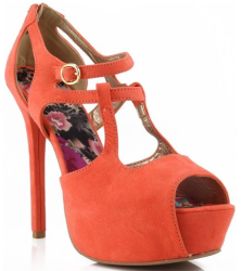 Mint Coral high heels Fashion Style Board