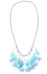 mint beaded necklace fashion style board