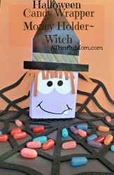 Candy wrapper gift card holder witch