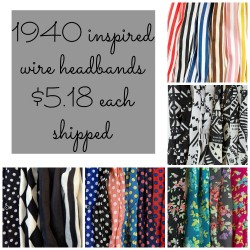 1940 inspired wire head wraps