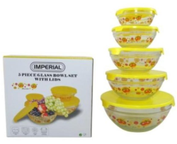 Imperial 5pc glass nesting bowls