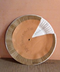 Thanksgiving I am Thankful For pie craft.  #thanksgiving, #thankful, #kidscraft, #craft, #paperplate, #pie