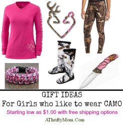 Gift ideas for the girl who likes to wear camo