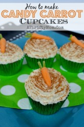 Carrot Cupcakes, perfect for Easter or Spring parties, Easter Cupcakes, #Carrots, #Cupcakes, #easter