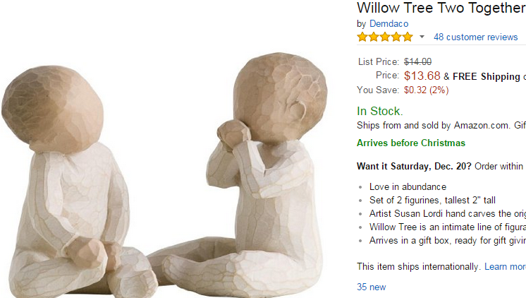 Willow Tree Two Together On Sale